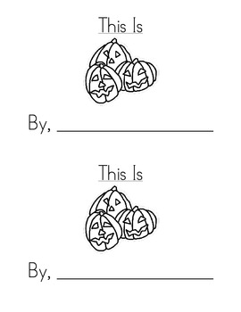 Sight Word Emergent Reader: This Is (is)