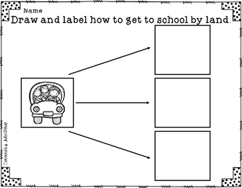 This Is the Way We Go to School Comprehension Game Kindergarten