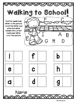 This Is the Way We Go to School, Kindergarten, Centers and Printables