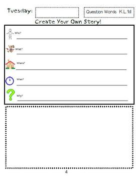 This Is the Way We Go to School Writing Journal with Word Dictation