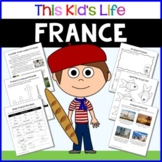 France Country Study: Reading & Writing + PowerPoint Distance Learning