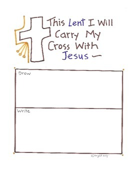 This Lent I Will Carry My Cross With Jesus