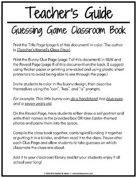 This Little Bunny - Classroom Guessing Game Book for Easter