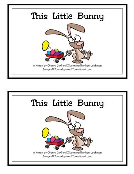 This Little Bunny Reproducible Guided Reading Book