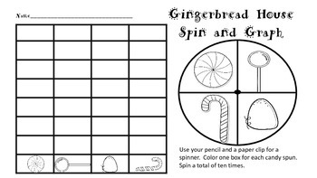 Gingerbread House Spin, Graph and Draw w/ Counting Emergent Reader