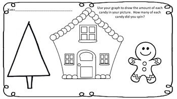 Gingerbread Man House Spin, Graph and Draw