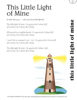 This Little Light Of Mine - Song And Lyric Sheet