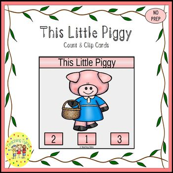 This Little Piggy Clip Task Cards