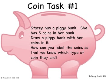 This Little Piggy - Cute Mini-Unit to Identify Coins! Includes 2 Tasks!