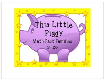 This Little Piggy - Math Fact Families