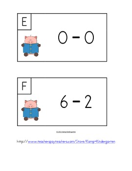 This Little Piggy Went to School Subtract the Room (Minuends to 10)