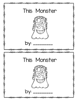 This Monster (numbers 6-10)~ emergent reader