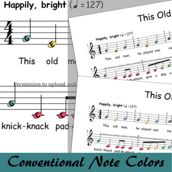 This Old Man - Boomwhackers® Sheet Music