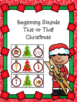 This Or That Beginning Sounds -Christmas