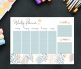 This Printable Weekly Schedule Planner includes both Sunda