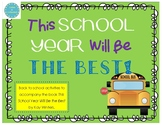 This School Year Will Be THE BEST--Back To School SCOOT & Goal Setting