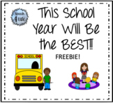 This School Year Will Be THE BEST! Book Companion FREEBIE!
