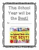 This School Year will be THE BEST!- Beginning of Year Classroom Book Activity