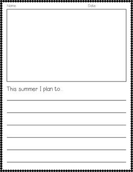 This Summer I Plan To... {End of the Year Writing}