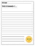 This Summer I...Writing Prompt