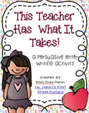 This Teacher Has What It Takes! - Letters for a Student Teacher