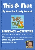 This & That by Mem Fox Literacy Activities