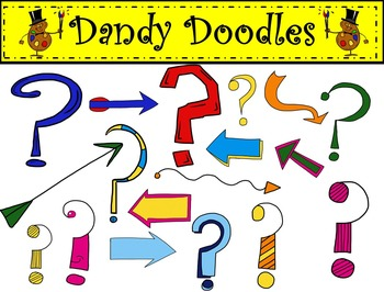 This Way or That Way? Clipart (Arrows and Question Marks) by Dandy Doodles