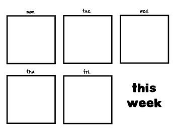 This Week 3inx3in Post-It Template