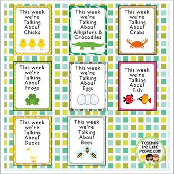 """This Week We're Talking About"" Theme Unit Signs, New Style, Set Two"