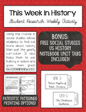 This Week in History - Social Studies Student Research - B
