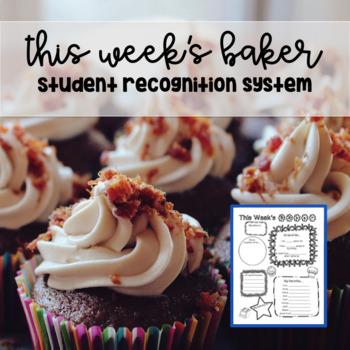 This Week's Baker - Student Highlight Bio Sheet First Day