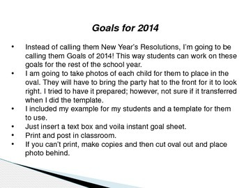 This Year, I will... Goals for 2014