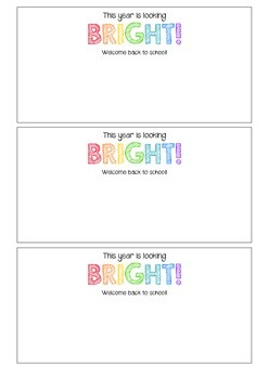 This Year Is Looking Bright Student Gift Tags