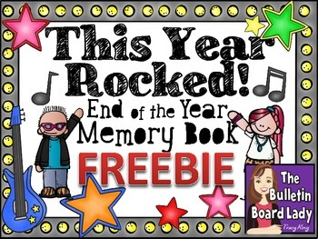 This Year Rocked! End of the Year Memory Book FREEBIE