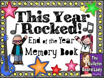 This Year Rocked!  Memory Book and Countdown Bulletin Board BUNDLE