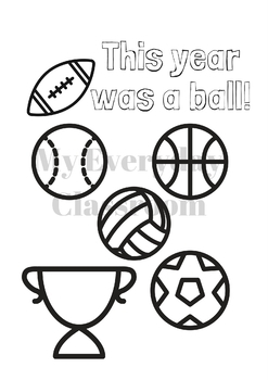 This Year Was A Ball - End of Year Favor Tags