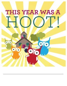 End of School Year Journal: This Year Was A Hoot!