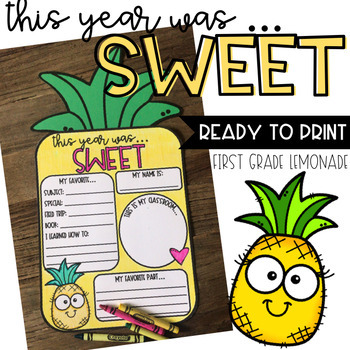 This Year Was Sweet Pineapple Craftivity (End-of-Year)