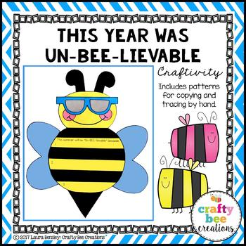 End of the Year Craft (This Year Was Un-Bee-Lievable)