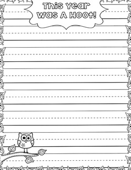 This Year Was a Hoot!  {Owl Writing and Craft}