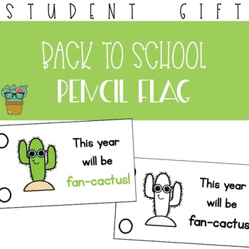 This Year Will Be Fan-Cactus Pencil Flag Freebie