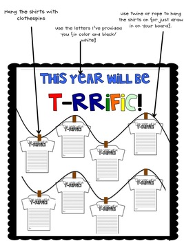 This Year Will Be T-Rrific {Back to School Writing}