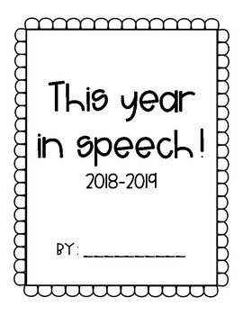 This Year in Speech Cover Sheet