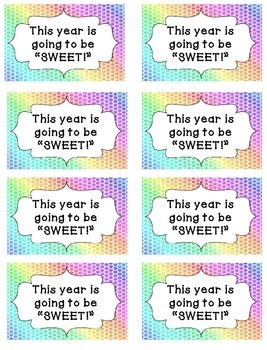 This Year is Going to Be SWEET! Tag {FREEBIE}