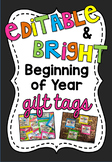 Bright Back to School Gift Tags | For Glow Sticks or Highl
