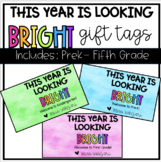 This Year is Looking Bright Gift Tag; (Editable)