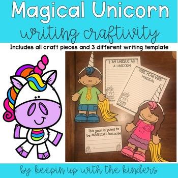 This Year was Magical Unicorn Kids Writing Craftivity