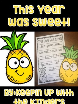 This Year was Sweet! Writing Craftivity