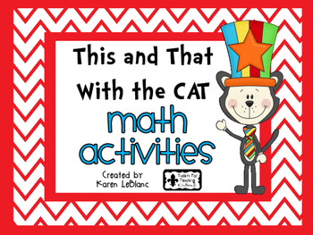 This and That With the Cat MATH ACTIVITIES