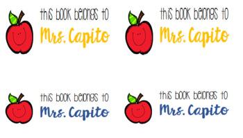 This book belongs to teacher sticker/labels